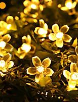 Недорогие -7м вишневые струнные светильники 50 светодиодов 1set монтажный кронштейн теплый белый / RGB / белый / синий / непромокаемый / солнечный / наружный ночной светильник / милый солнечный 1 комплект