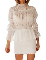 Недорогие -Жен. Блуза Классический Однотонный Белый