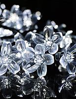 Недорогие -10м вишневые струнные светильники 100 светодиодов 1set монтажный кронштейн теплый белый / RGB / белый / синий / непромокаемый / солнечный / ночной светильник на открытом воздухе / симпатичные