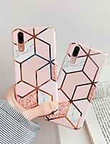cheap -Case For Huawei Huawei Nova 4 / Huawei P20 / Huawei P20 Pro Plating / IMD / Pattern Back Cover Marble TPU