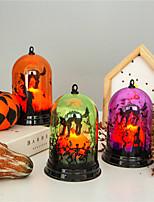 Недорогие -Праздничные украшения Украшения для Хэллоуина Хэллоуин Развлекательный Для вечеринок / Декоративная / Cool Светло-желтый / Желтый+Оранжевый / Лиловый 1шт