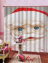 Недорогие -Рождество Конфиденциальность 2 шторы Занавес