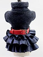 Недорогие -Собаки Коты Животные Платья Одежда для собак Однотонный Черный Серый Полиэстер Костюм Назначение Лето Юбки и платья