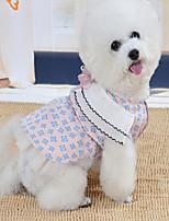 Недорогие -Собаки Коты Животные Платья Одежда для собак Принцесса Розовый Бежевый Полиэстер Костюм Назначение Лето Свадьба