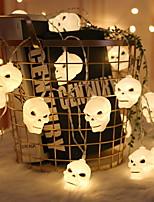 Недорогие -3 м призрак черепа хэллоуин праздник огней 20 светодиодные вечеринки украшения класса