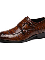 cheap -Men's Formal Shoes Leather Spring & Summer / Fall & Winter Business / Casual Loafers & Slip-Ons Breathable Black / Brown / Yellow