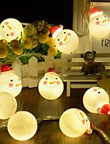 Недорогие -сделай сам красная шляпа снег искусственный светильник строка 2 м 10led хэллоуин украшения фестиваль украшения аа батареи 1 шт.