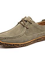 Недорогие -Муж. Комфортная обувь Полиуретан Осень На каждый день Туфли на шнуровке Нескользкий Винный / Синий / Хаки