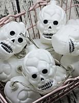 Недорогие -1.5 м 10 светодиодные фонари хэллоуин черепа фея Хэллоуин украшения огни для внутреннего дворика вечеринки подарок белый