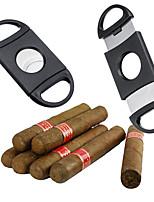 cheap -Double Blades Cigar Cutter Sharp Knife Smoking Tools Cigar Accessories Stainless Steel Scissors