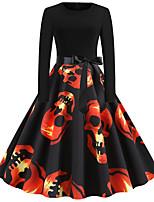 Недорогие -Одри Хепберн Платья Взрослые Жен. Ретро Хэллоуин Хэллоуин Фестиваль / праздник Полиэстер Черный Жен. Карнавальные костюмы / Платье