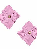 Недорогие -Жен. Серьги геометрический Цветы Представить Стиль европейский Мода Крупногабаритные Cool Серьги Бижутерия Светло-Розовый Назначение Повседневные 1 пара
