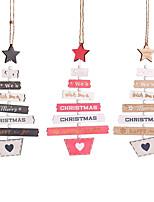 Недорогие -деревянные рождественские украшения деревянные звезды сосновая шишка