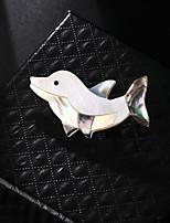 Недорогие -Жен. Броши Животный принт Природа Мода Морская раковина Брошь Бижутерия Разные цвета Назначение Подарок Повседневные