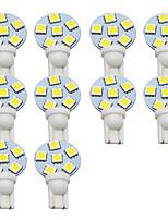 Недорогие -10 шт. T10 Автомобиль Лампы 1 W SMD 5050 300 lm 6 Светодиодная лампа Подсветка для номерного знака / Рабочее освещение / Задний свет Назначение Универсальный Avenger / Elysee / 9-5