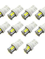 Недорогие -10 шт. T10 192 194 168 w5w светодиодные лампы 7 smd 2835 автомобиль задние фонари купольная лампа освещения номерного знака огни белый теплый белый dc 12 В 1 Вт