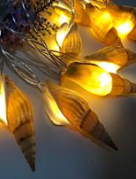 Недорогие -1,5 м Гирлянды 10 светодиоды Тёплый белый Творчество / Новый дизайн / Для вечеринок Аккумуляторы AA 1 комплект