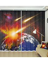 Недорогие -комета хиты земля цифровой печатный занавес творческий занавес тени высокой точности черный шелк ткань высокого качества первоклассный оттенок спальня гостиная занавес