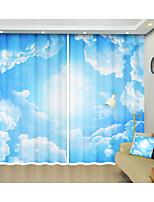Недорогие -белое облако цифровая печать творческий 3d занавес тень занавес высокой точности черный шелк ткань высокого качества первый класс занавес тени