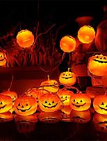 Недорогие -2 шт. Coquimbo 1.5 м 10 светодиодов хэллоуин тыква светодиодные огни строки сад украшения дома партии праздник строки свет хэллоуин огни