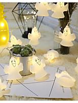 Недорогие -Огни Хэллоуина милый белый призрак 3 м 20 светодиодные висячие огни декора Хэллоуина жуткий ужасающий тематический теплый белый свет для украшения дома партии