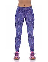 Недорогие -Жен. Штаны для йоги 3D-печати Эластан Фитнес Тренировка в тренажерном зале Леггинсы Спортивная одежда Дышащий Влагоотводящие Быстровысыхающий Подтяжка Эластичность Обтягивающие