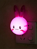 cheap -Cartoon Rabbit LED Night Light Switch Wall Night Lamp With US Plug Gifts For Kid/Baby/Children Bedroom Bedside Lamp