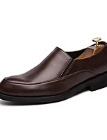 cheap -Men's Dress Shoes Patent Leather Spring & Summer / Fall & Winter Business Loafers & Slip-Ons Walking Shoes Breathable Black / Brown / Party & Evening