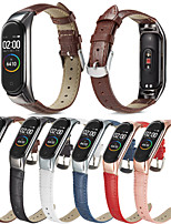 cheap -Watch Band for Xiaomi Band 5 Xiaomi Leather Loop Quilted PU Leather Wrist Strap