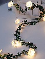 cheap -4pcs 2pcs 1pcs 1.5m 10leds Rose Flower Vine String LED Fairy lights Wedding Valentine's Day Christmas Decor Garland Batter Powered