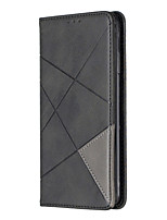 cheap -Case For Samsung Galaxy A31 A70E A41 A11 M11 Card Holder with Stand Embossed Full Body Cases Geometric Pattern PU Leather for Galaxy A70 A50 A50S A30S A30 A20 A20E M10 Note10 Plus Note10
