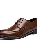 cheap -Men's Formal Shoes PU Spring & Summer / Fall & Winter Casual / British Oxfords Black / Brown