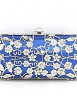 cheap -Women's Beading / Flower Alloy Clutch Solid Color Blue / Red