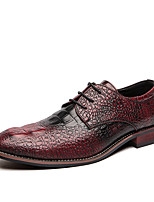 cheap -Men's Formal Shoes PU Spring & Summer / Fall & Winter Casual / British Oxfords Black / Gold / Red