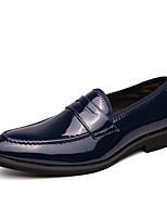 cheap -Men's Summer / Fall Casual / British Daily Office & Career Loafers & Slip-Ons Faux Leather Non-slipping Wear Proof Black / Blue