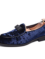 cheap -Men's Dress Shoes Satin Spring & Summer / Fall & Winter Casual / British Loafers & Slip-Ons Breathable Booties / Ankle Boots Black / Dark Blue / Party & Evening