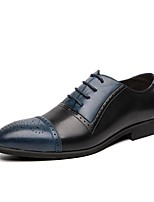 cheap -Men's Formal Shoes PU Spring & Summer / Fall & Winter Casual / British Oxfords Color Block Brown / White / Black / Blue