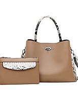 cheap -Women's Zipper PU Bag Set Bag Sets Color Block 2 Pieces Purse Set Black / Yellow / Khaki / Snakeskin / Fall & Winter