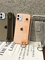 cheap -Case For Apple iPhone 11 / iPhone 11 Pro / iPhone 11 Pro Max Transparent Back Cover Solid Colored TPU