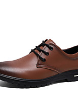 cheap -Men's Formal Shoes Cowhide Spring & Summer / Fall & Winter Casual / British Oxfords Non-slipping Black / Brown