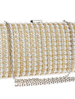 cheap -Women's Pearls / Chain Polyester Evening Bag Black / Gold / Silver
