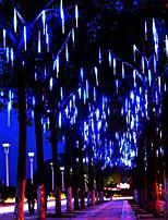 Недорогие -30 см метеоритный дождь дождь трубки свет шнура 16 трубки падающий дождь капли сосулька рождественская свадьба фея свет гирлянды
