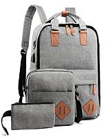 cheap -Women's Zipper Polyester Bag Set Color Block 3 Pcs Purse Set Black / Blue / Red