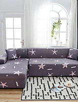 cheap -Cartoon Starfish Print Dustproof All-powerful Slipcovers Stretch L Shape Sofa Cover Super Soft Fabric Couch Cover with One Free Pillow Case