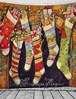 cheap -Christmas / Classic Theme Wall Decor 100% Polyester Classic / Fantasy Wall Art, 150*100 cm Decoration