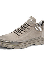 cheap -Men's Spring / Summer Casual / Vintage Daily Outdoor Sneakers Walking Shoes Pigskin Non-slipping Wear Proof Khaki / Gray