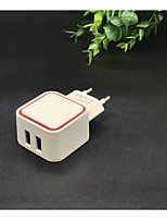 abordables -Universal 5V 1A LED Double USB Wall Charger Home Travel Adapter Charge rapide EU US Plug pour iPhone Samsung Xiaomi Huawei J25