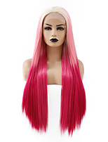 cheap -Synthetic Lace Front Wig Straight Gaga Middle Part Lace Front Wig Ombre Long Ombre Color Synthetic Hair 22-26 inch Women's Heat Resistant Women Hot Sale Ombre / Glueless