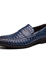 cheap -Men's Leather Fall / Spring & Summer Casual / British Loafers & Slip-Ons Breathable Blue / Brown / Black / Party & Evening