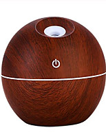 cheap -130ML Mini Wooden Aromatherapy Humidifier Aroma Diffuser Essential Oil Diffuser Air Purifier Color Changing LED Touch Switch